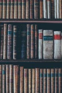 old books on shelf